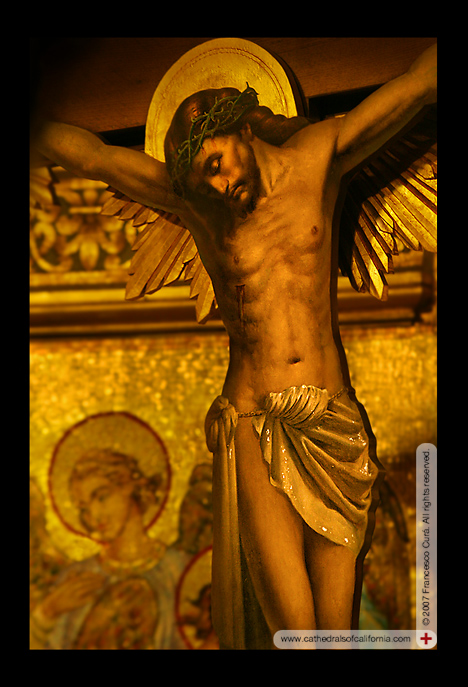 Sanctuary crucifix at Saint Sophia Greek Orthodox Cathedral in Los Angeles